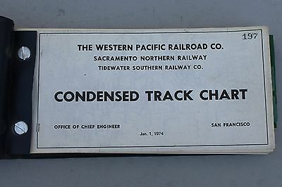 Western Pacific Rr Condensed Track Chart Book 1974