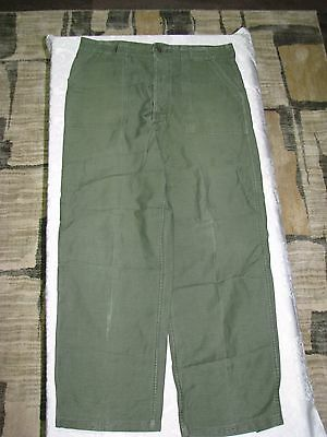 VTG VIETNAM WAR TYPE 1 SATEEN OG107 5 BUTTON FLY US ARMY UTILITY PANT 38x33