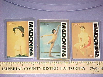 Madonna  R-Cards International Card #1 #2 #3 Scarce