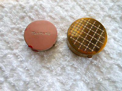 2 Vintage Compacts Powder Rouge Mirror Tayton's and Unknown.