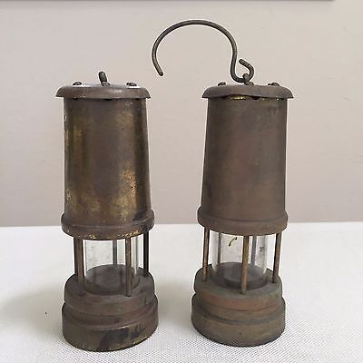 Vintage Ship Marine Brass Kerosene Hanging Lamp Set Of 2