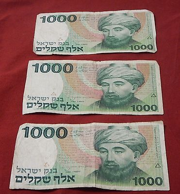 3 - Bank of Israel 1000 sheqalim (1000 shekel),1983, paper money, banknote