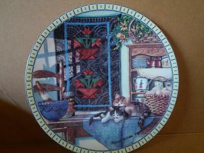 """Intricate Lim.edit. Edwin Knowles China Plate""""lazy Morning""""-Plz Send Your Bids!"""
