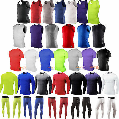 Sports Compression Base Layer Body Armour Shorts Pants/Vest/T-shirt Jersey Tops
