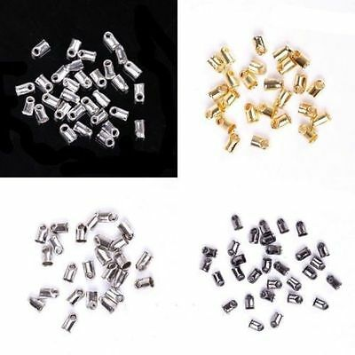 100Pcs Dia. 5x3.5mm End Cord Tube Tip Caps End Rope Diy Jewelry Accessories
