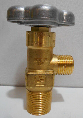 Sherwood Acetylene Tank Valve CGA 300, 3/4 NGT, No Safety, Handwheel Operated