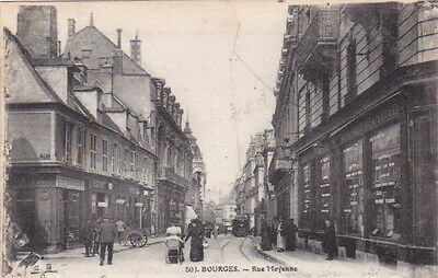 France - BOURGES - Rue Moyenne - Early Street View