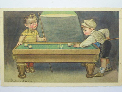 Billiards-Pool-Artist Signed-Colombo-Ol7-X78719