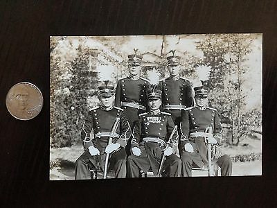 Original Wwii Japanese Photo: Army Officers In Full Uniform, War Swords!!!