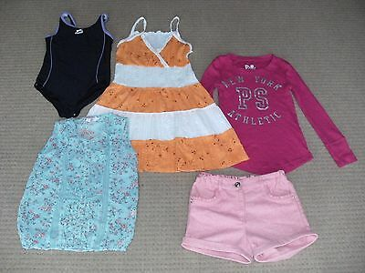Bundle 5 Girls CLOTHES Including SLAZENGER SWIMMING COSTUME  Approx Age 6-8yrs
