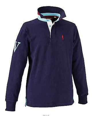 New ~ Mens ** Harry Hall Navy Rugby Top ** Size Medium Horse Riding Jumper