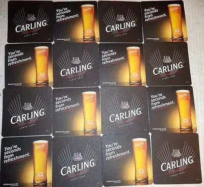 Joblot Of 16 Carling Lager Beer Mat Coasters