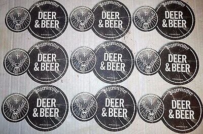 Joblot Of 9 Jagermeister Deer & Beer Mat Coasters
