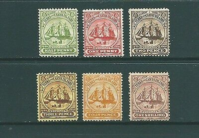 TURKS & CAICOS ISLANDS - 1900-1908 MINT definitives to 1 Shilling value