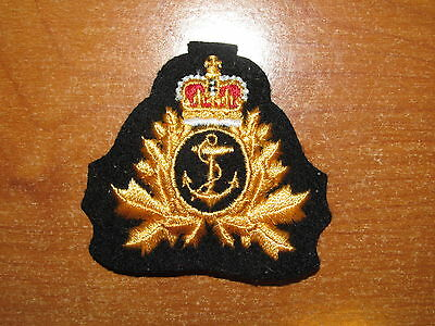 QC Canadian Cap Badge Royal Canadian Navy OFFICER nice beret size