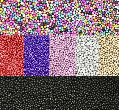25g Micro beads 0.7mm. Caviar style nails, card making, pottery  Free UK postage