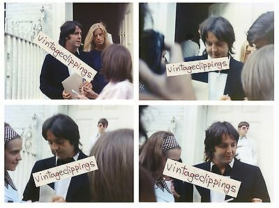 PAUL McCARTNEY in Apple London 4x 1969 candid fan photos 10x15cm beatles photo