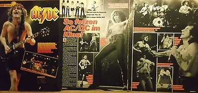 3 german clipping AC/DC ANGUS YOUNG SHIRTLESS ROCK BOY BAND BOYS GROUP BRAVO