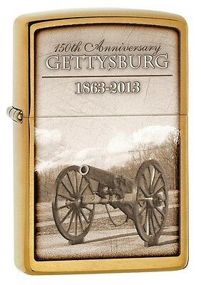 Zippo 28506, Gettysburg-150th Anniversary, Brushed Brass Finish, Full Size