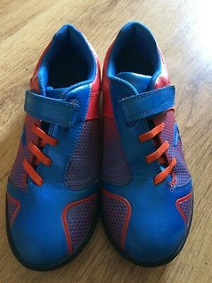 GC Boys Clarks Leather Casual Football Style Trainer Size 1 F