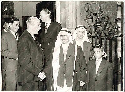 1958 LONDON Harold MACMILLAN  with Sheikh Saqr bin MOHAMMAD AL QASIMI - Photo