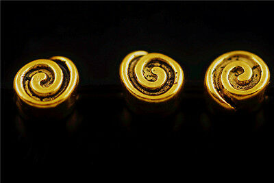 Wholesale 20pcs Golden Metal Beads Spacer Craft Jewelry Finding 8x9mm Charms