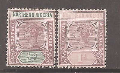Northern Nigeria 1900 Victorian ½d and 1d mint hinged SG 1 and 2 w9512