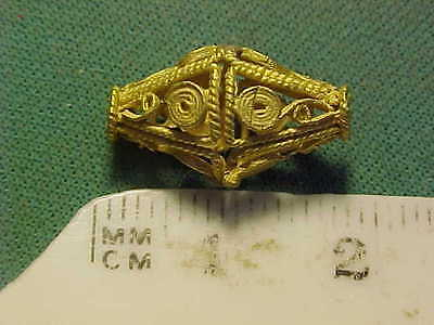 Sassanian gold decorative bead  circa 224-642 AD.