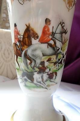 Stirrup Cup French Porcelain Stirrup Cups Hunting Scene Very Nice -Free Post
