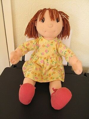 zapf creation maggie raggie soft toy doll 16inch vintage brown wool hair