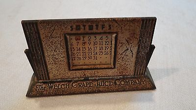 VINTAGE 1940's WELCH's GRAPE JUICE 50 year desk calendar RARE
