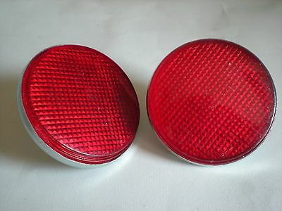 551595 - Pair Of Round Rear Reflectors - Land Rover Series 2, 2A & 3