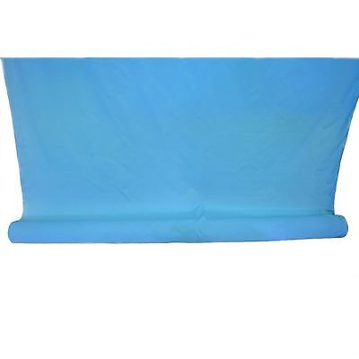 1 Roll of 100m Metres Polyester Plain Dye Blue Material Craft Fabric