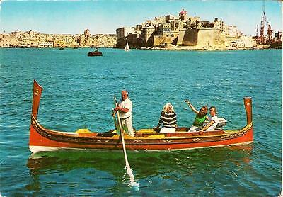 Grand Harbour & Fortifications of Senglea - Posted Postcard