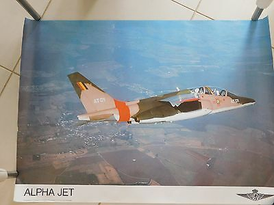 Poster ALPHA JET at01 FORCE AERIENNE BELGE