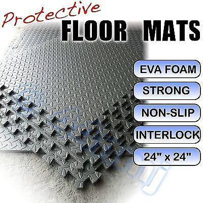 12mm Garage Gym Shed Flooring Mats DARK GREY 1024 Sq Ft / 95.24 Meter Sq