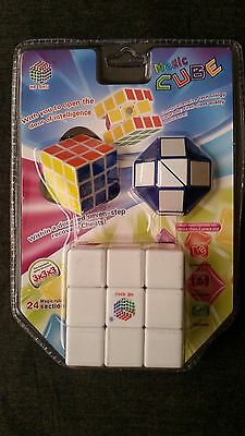 Rubics Cube Rubix  Mind Game Kids Cube Magic Cube Square Puzzle GIFT pack 3 in 1