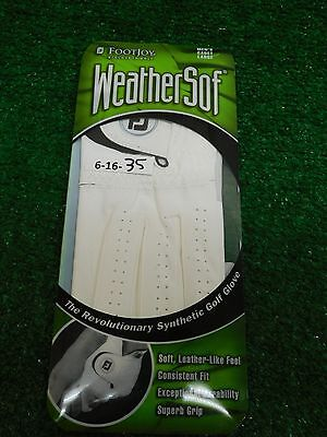 FootJoy FJ Mens WeatherSof White Golf Glove Left Cadet L Large New