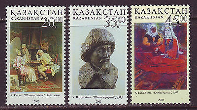 Kazakhstan 2003. Paintings & sculpture 3v. MNH