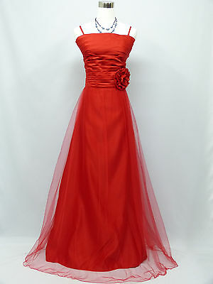Cherlone Plus Size Red Long Ballgown Wedding Evening Bridesmaid Formal Dress 18