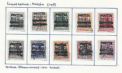 German Occ Poland/MAKOW stamps 1918 Collection of 8 LOCAL stamps HIGH VALUE!