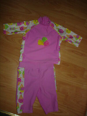 Baby Girls  Safe In the Sun UV Sun Suit age 6/9mths