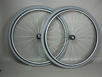 """2 Quickie 26"""" x 1 3/8"""" Inch Wheelchair Wheels With Quick Release 650x35A 37-590"""