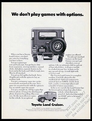 1971 Toyota Land Cruiser SUV photo We Don't Play Games vintage print ad