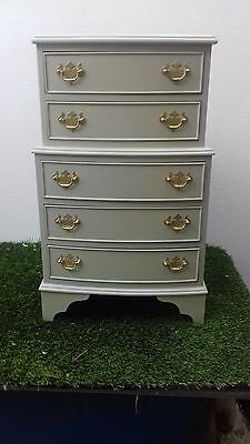 antique Chest Of Drawers painted in French grey