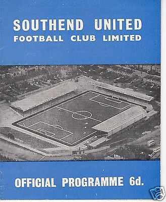 Southend Utd  V  Stoke City  Tony Bentley's Benefit Match  2/5/66