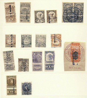 Mexico Revenue Collection #56 1918-1919 TABS Blocks Merida provisionals