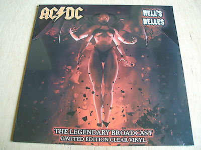AC / DC  hell's bells legendary broadcast  2017 issue clear vinyl mint sealed