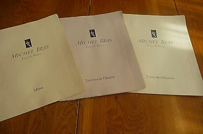 Tres Ancien Menu Restaurant Michel Bras  De 1996 Laguiole France