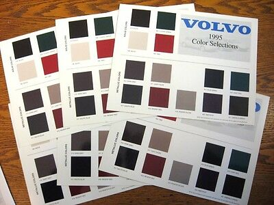 1995 Volvo Color Chip Selections Dealer Sales Brochure LOT (6) pcs, 960 850 940